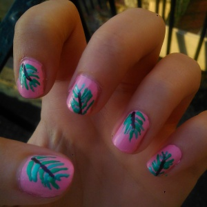 Rebecca Cotzec Palm Tree Nail Art