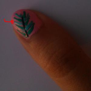 Rebecca Cotzec Palm Tree Nail Art