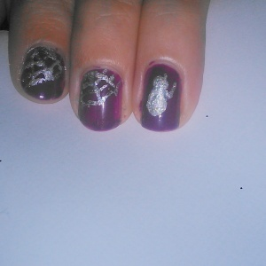 Halloween Nail art how to, simple spider, rebecca cotzec
