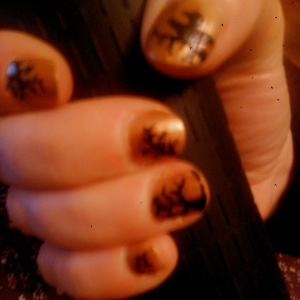 Halloween nail art how to haunted forest