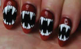Halloween Nail Art How To Fangs