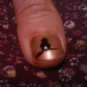 Halloween nail art how to raven
