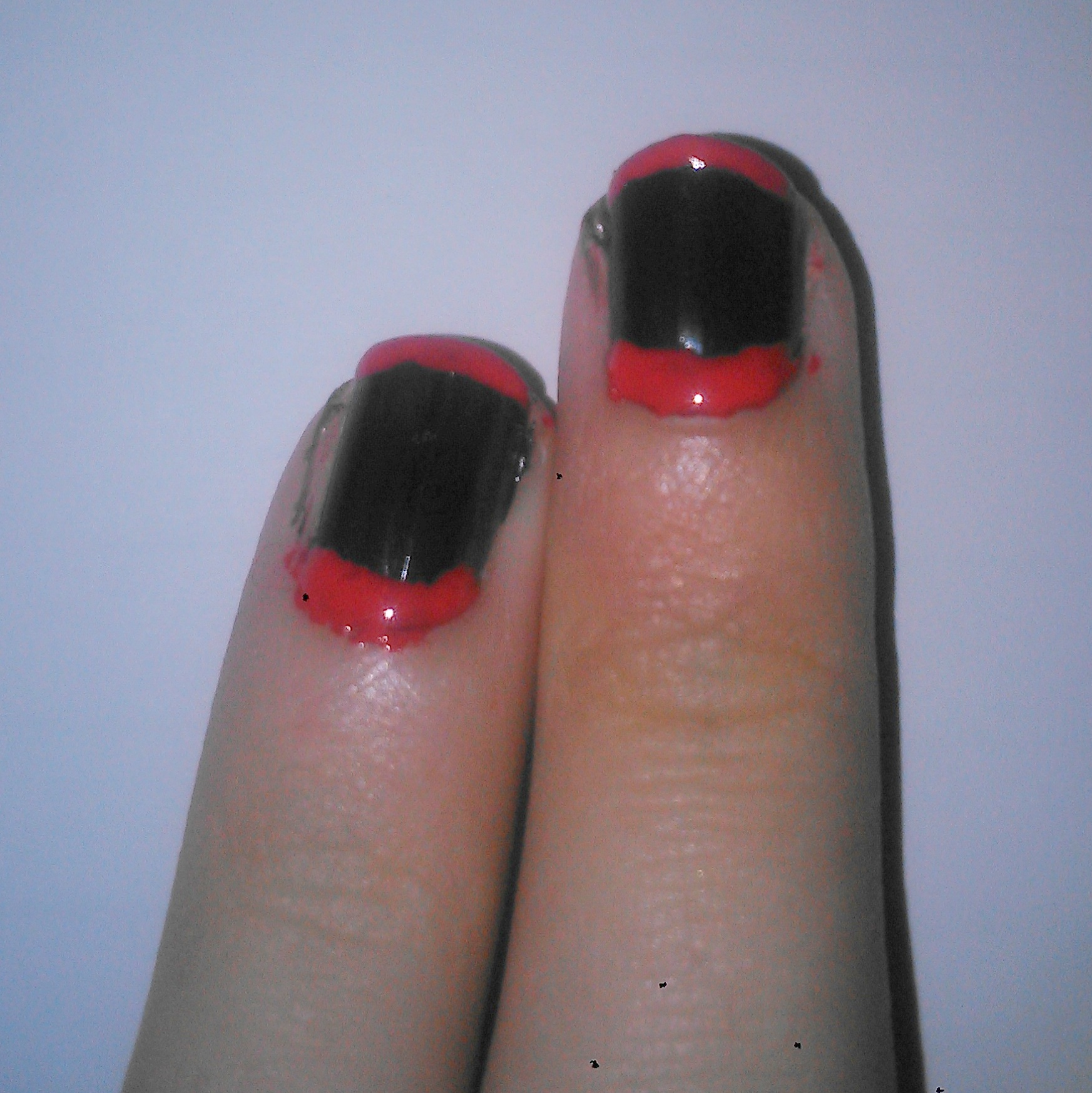 Vampire Teeth Nails Rebecca Cotzec Halloween Step Two