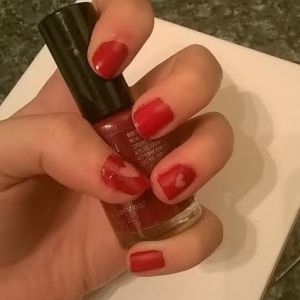 Negative Space Nail Art how to valentines day heart