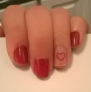 Negative Nail Art How To Valentine's Day
