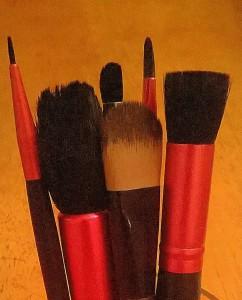 Washing make up brushes