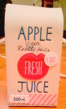 Accessorize apple juice carton  bag