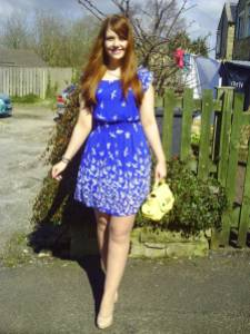 Outfit of the day easter blue newlook dress