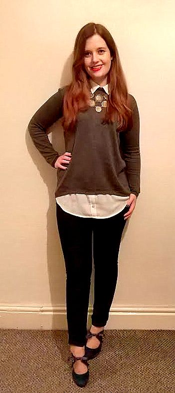grey two in oneautumn knit top