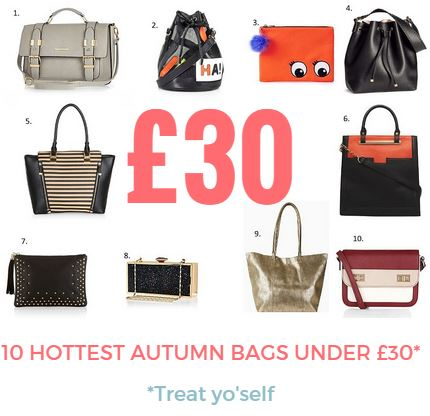hottest autumn bags under thirty pound