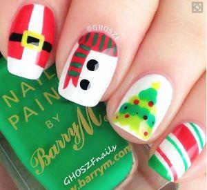 Multi Design Christmas Nail Art